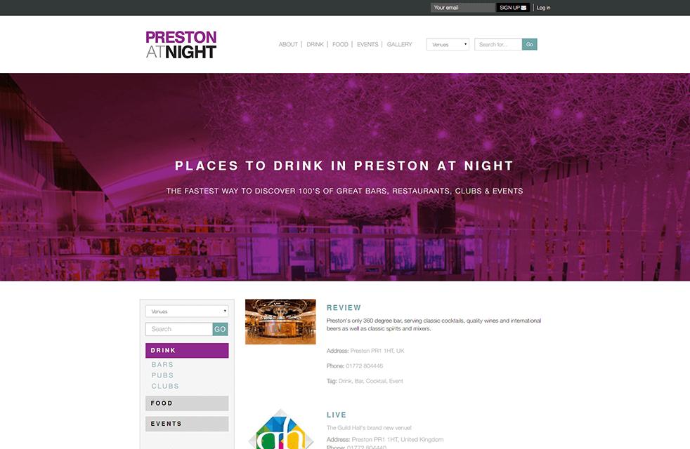 Preston at night