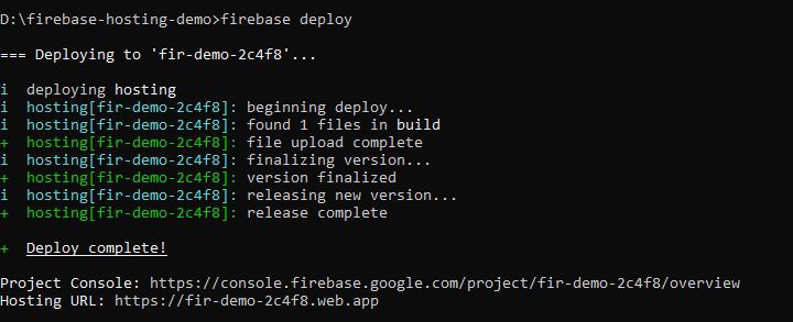 firebase deploy app